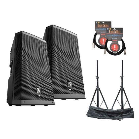 Electro Voice ZLX-15BT Set w/Stands & Cables
