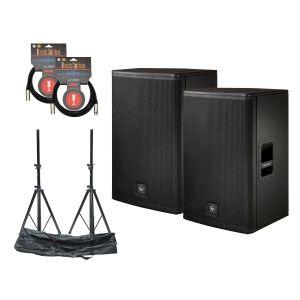 Electro Voice ELX-115P Set w/Stands & Cables
