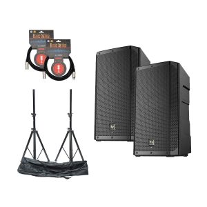 Electro Voice ELX200-12P Set w/Stands & Cables