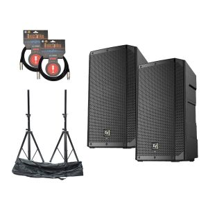Electro Voice ELX200-15P Set w/Stands & Cables