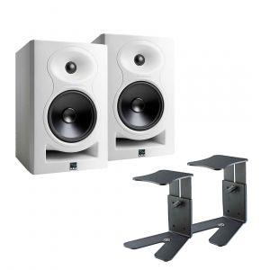 Kali Audio LP-6 Stand Bundle White