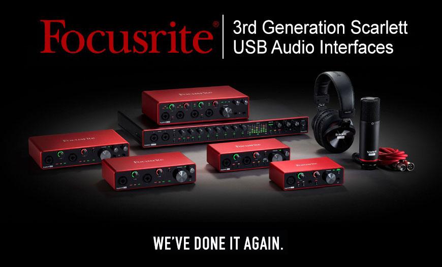 Focusrite 3rd Generation Scarlett Audio Interfaces