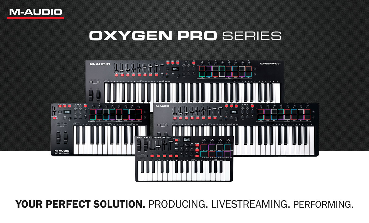 M-Audio Oxygen Pro Series – The New Midi Keyboards